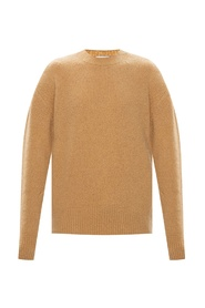 Branded rib-knit sweater