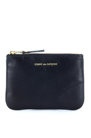 Wallet pouch in black calf leather
