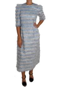 Frędzle płaszcza Sukienka Midi