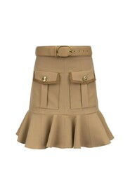 Flounced skirt with details