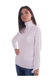 Solid Color High Neck Sweater W0BR1RZ2NQ0