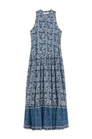 Lang kjole med paisleymønster