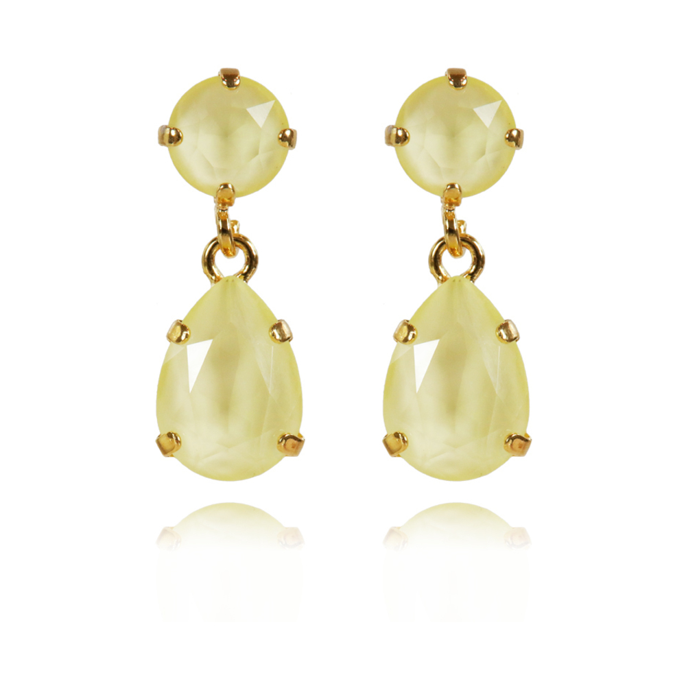 Caroline Svedbom Mini Drop Earrings Powder yellow