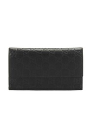 Pre-owned Leather Long Wallet