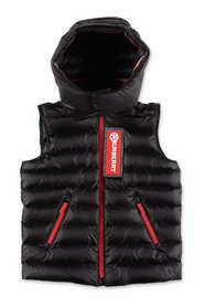 KELLER down feather vest with hood