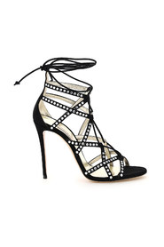 crystal messalin sandals