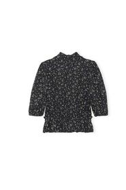 Printed Crepe Blouse High Neck