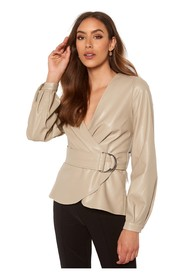 Rivalta Faux Leather Buck Top Overdeler