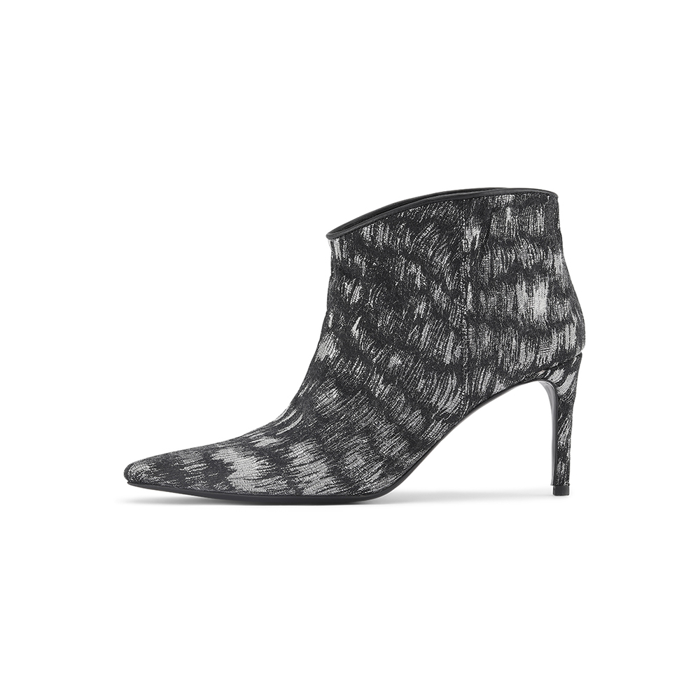 Abby Silver Jacquard Boots