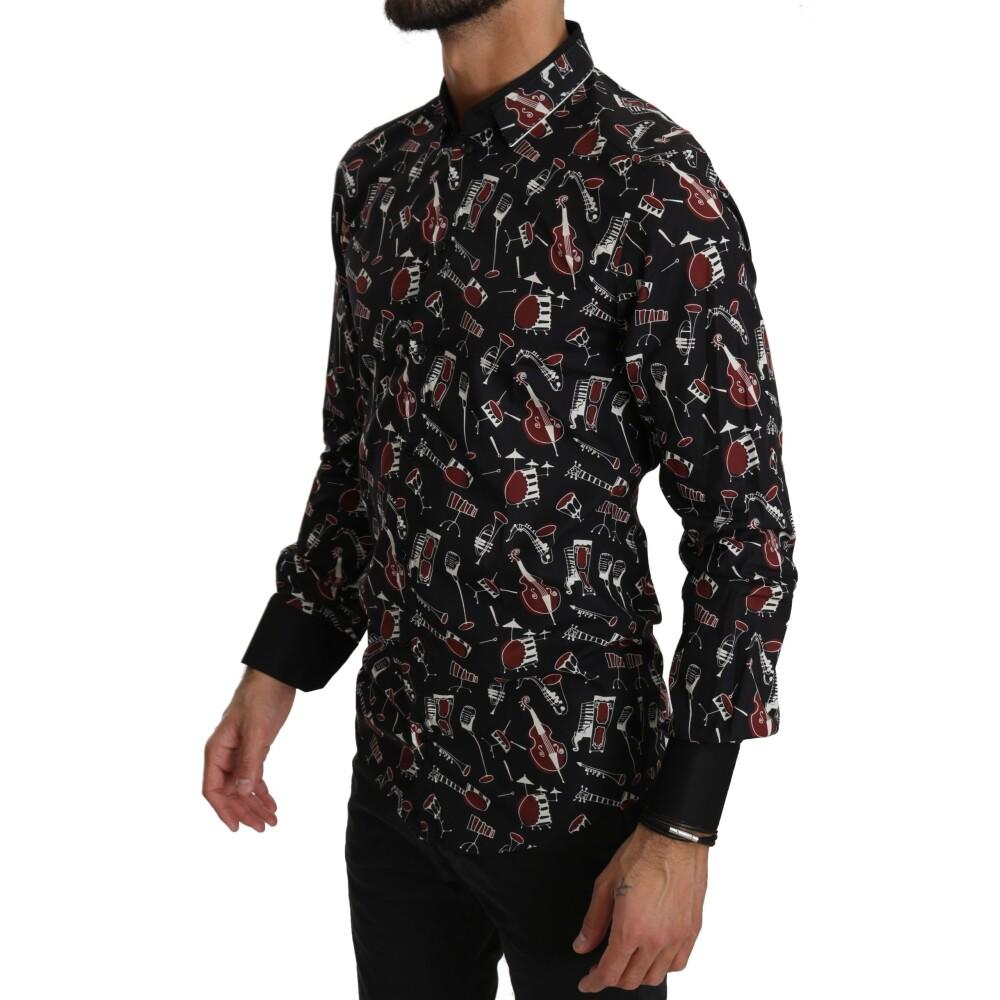 Black Slim fit Shirt | Dolce  Gabbana | Zakelijke Overhemden | Herenkleding