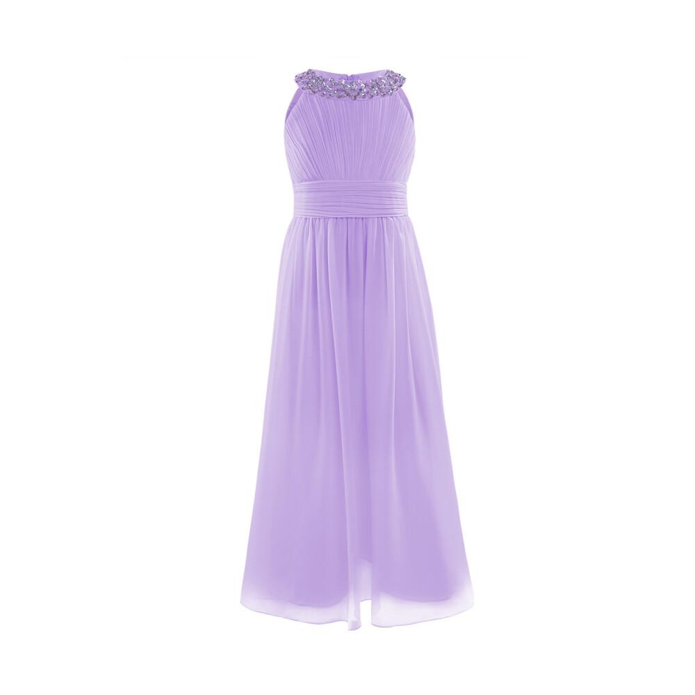 Lavendel Guttogpike Kjole