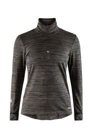 GRID HALF ZIP blouse