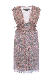 dress with floral motif