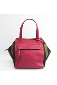 pre-owned Pequin 8BN251 Canvas Leather Handbag