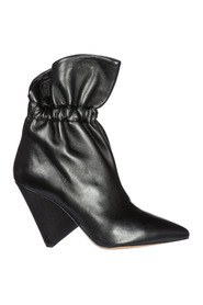 women's leather heel ankle boots booties lileas