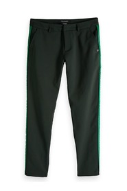 Maison Scotch Contrast Panel Trousers Green