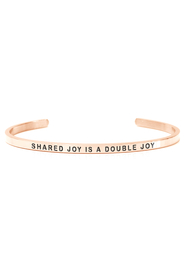 Armring med tekst - SHARED JOY IS A DOUBLE JOY - 3178
