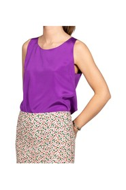 Silk tank top rounded