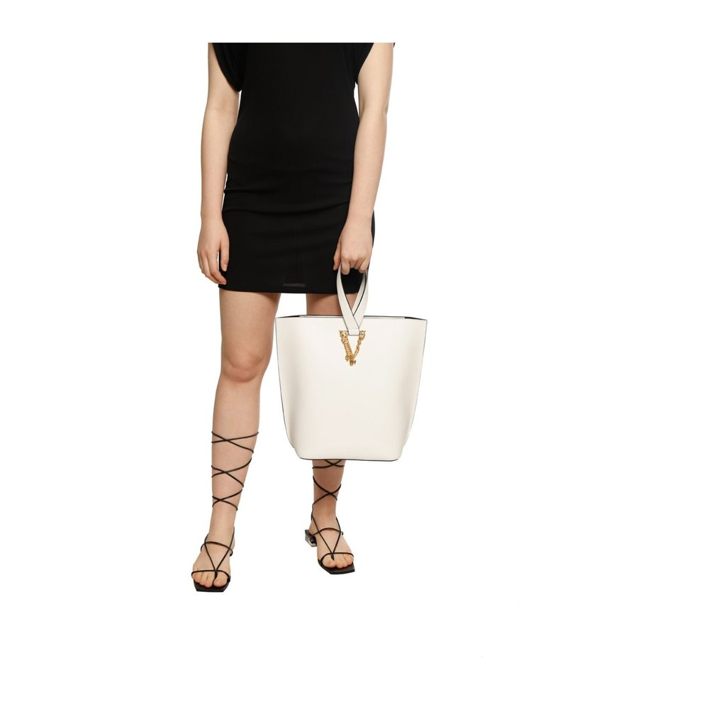 Versace WHITE Shoulder bag with logo Versace