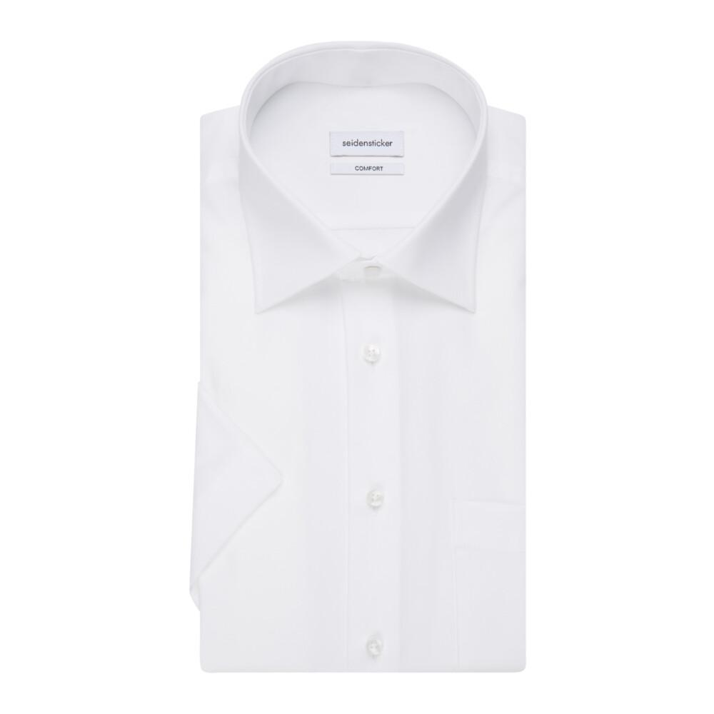 White Business Shirt Comfort   Seidensticker   Korte mouwen Overhemden   Herenkleding