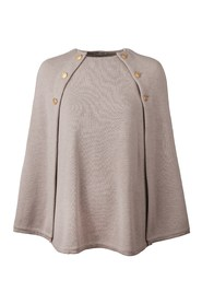 Sheath - Poncho with gold buttons
