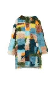 Feather patchwork Handcrafted Hooded Jacket