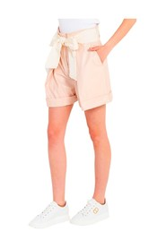Shorts in similpelle con fiocco GI110411/C