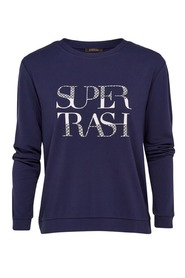 Supertrash topper bowie sweater blauw
