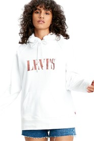 LEVIS 35946 0184 SPORT HOODIE SWEATER Women WHITE
