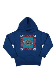 Blue cotton YOUNG VERSACE hoodie