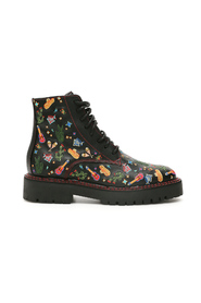 Mexican embroidery combat boots