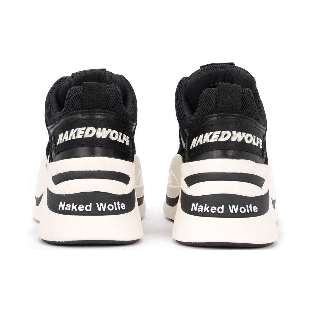 Naked Wolfe Black Track Sneakers Naked Wolfe