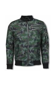 BomberJack - Camouflage Print With 3 Zippers