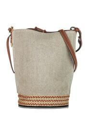 Raffia Bucket Bag Leather Calf