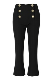 Trousers with golden buttons