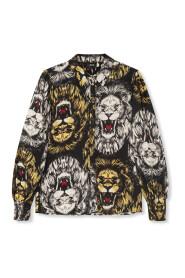 woven lion blouse