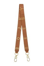 See By Chloé Brown Logo Studs Strap