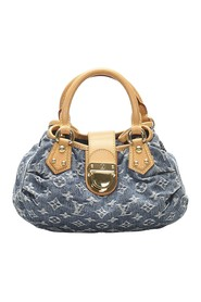 Monogram Denim Pleaty Handbag