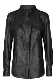 Lanni Leather Shirt Skjorte/Bluse
