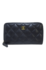 Pre-owned CC Timeless Caviar Leather Wallet