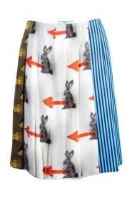 Multicolor Sable Rabbit Skirt