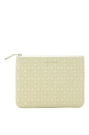 Pochette wallet in white cow leather