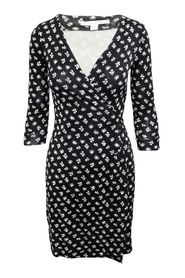 Print Silk Wrap Dress