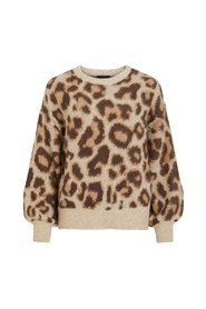 Strickpullover Leopardenprint