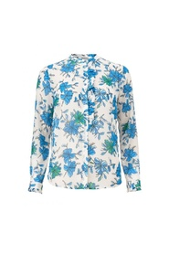 Noho print LS top, blouse  11786 morning glory