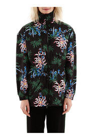Sea lily print windbreaker