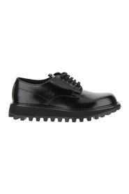 Shiny Leather Lace-Up Derby Shoes