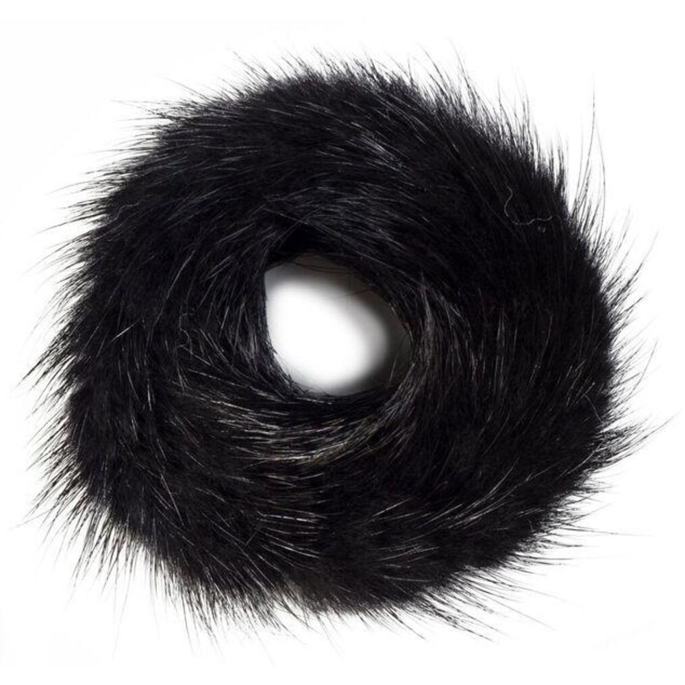 FUR SCRUNCHIE BLACK
