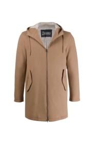 Wełniany płaszcz z zamkiem błyskawicznym