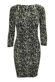Black Printed Dress -Pre Owned Condition Very